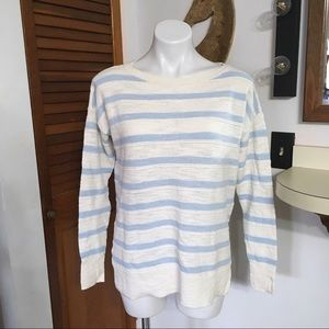LOFT Pastel Striped Knit Long Sleeve Shirt Small